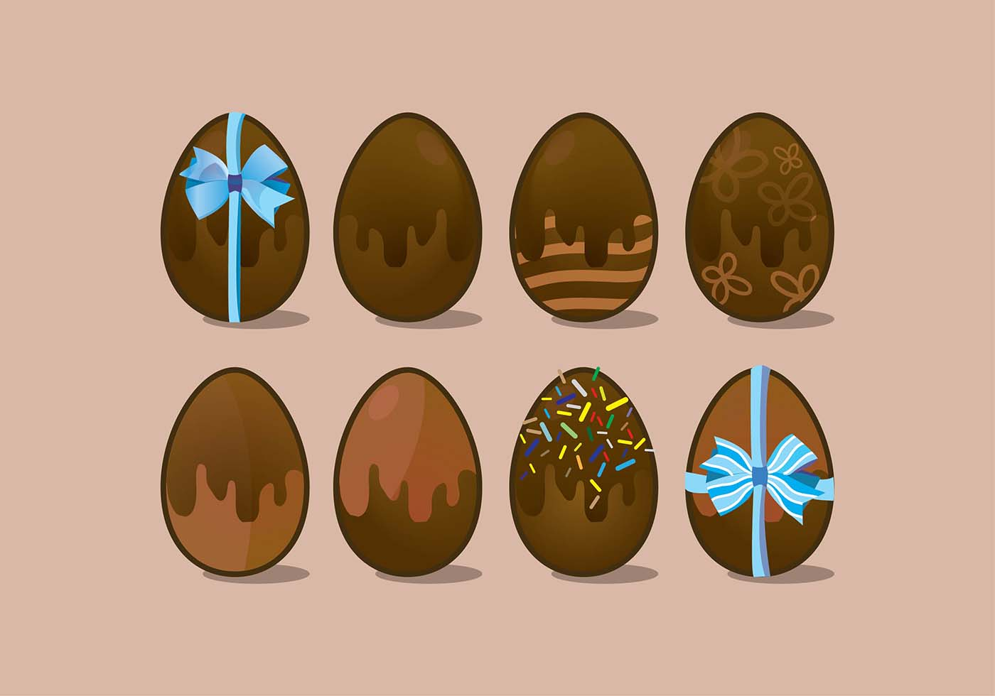 Chocolate Cute Wallpaper Chocolate Easter Eggs Icon Vector Variants Download Free