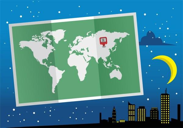 Folded World Map Mapa Mundi Vector Design Download Free