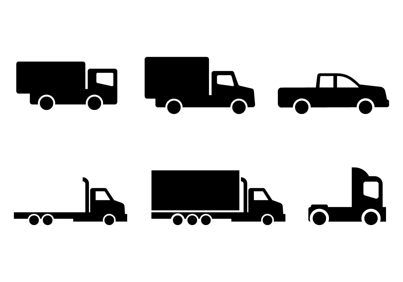 Truck Icon Free Vector Art