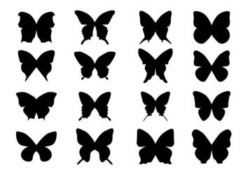 Black Silhouette Butterfly Download Free Vectors Clipart Graphics & Vector Art