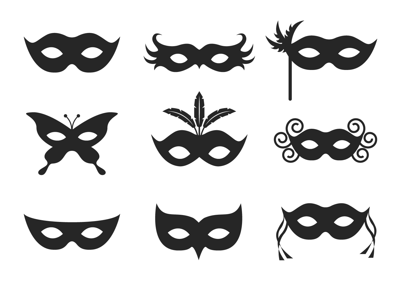 Masquerade Ball Icon Vector