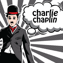 Bubble Chair On Stand Wagon Wheel Rocking Charlie Chaplin Illustration - Download Free Vector Art, Stock Graphics & Images