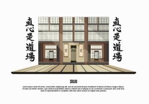 dojo vector illustration background