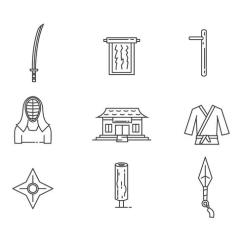 Martial Arts Diagram 3 Overlapping Circles Outline Icons Of Object Download Free Vector Art