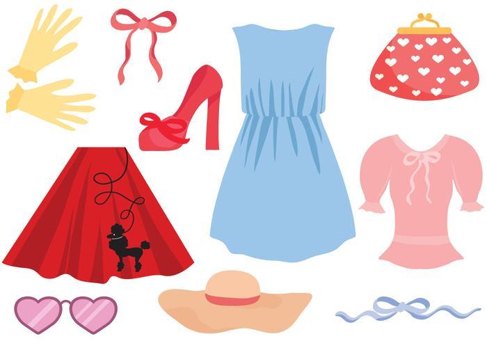 free retro women clothes
