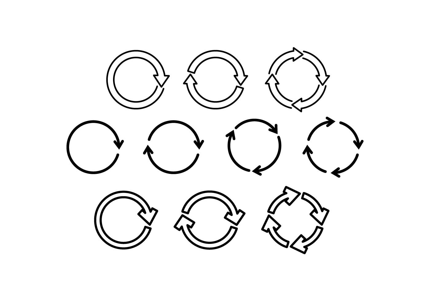 Free Update Line Icon Vector