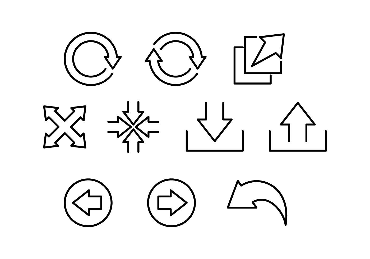 Circle Arrow Vector Free