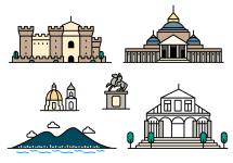Naples Italy Landmark Vector