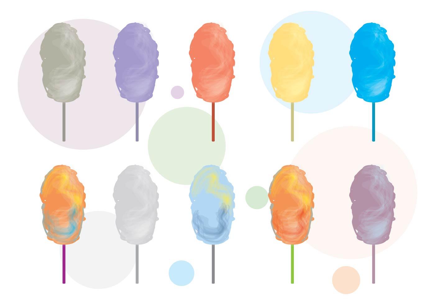 Candy Floss Vector Variant - Download Free Vectors ...