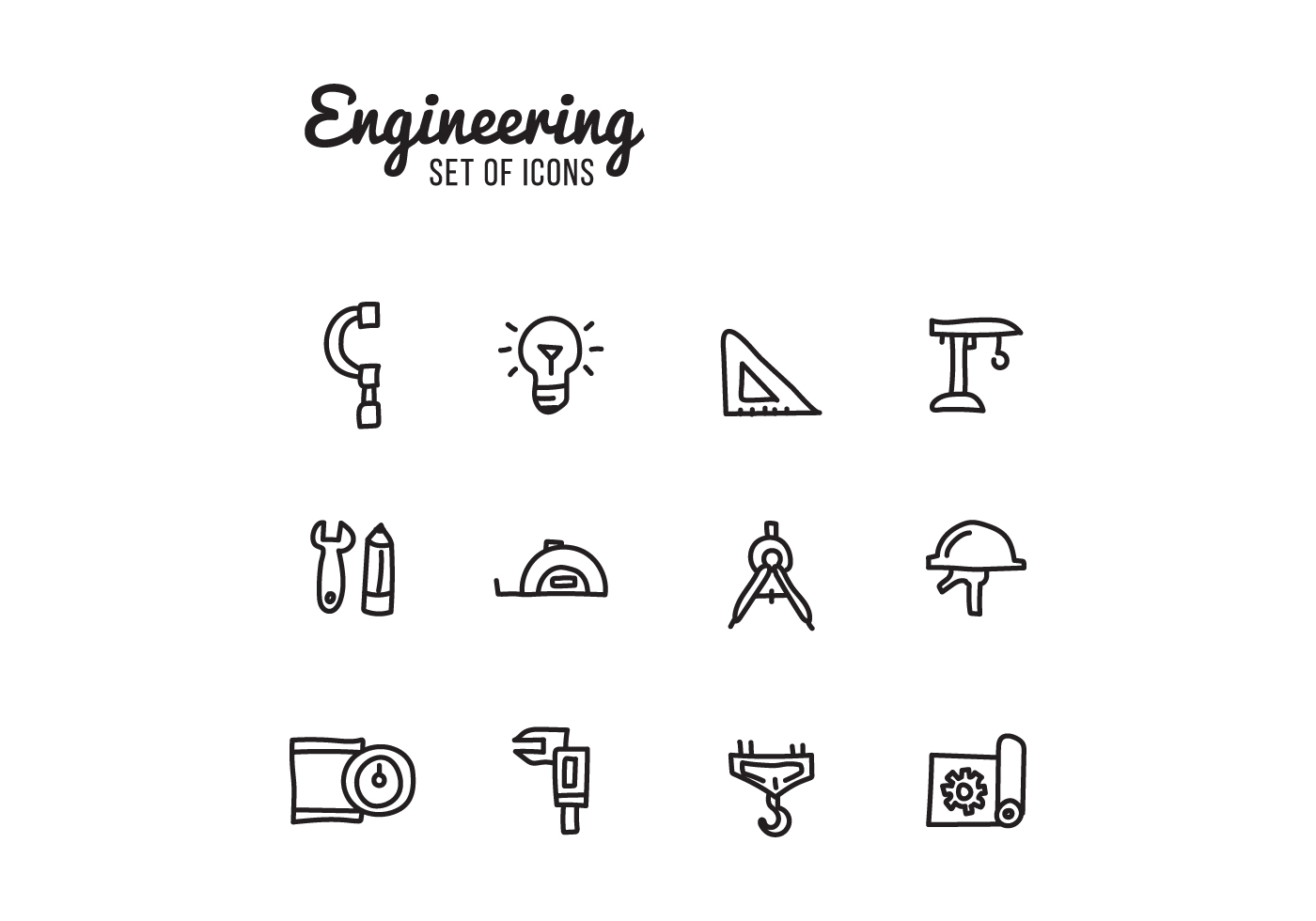 Set Of Engineering Icons