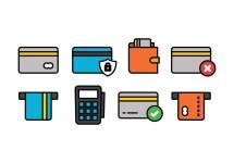 Credit Card Icon Set - Free Vector Art Stock