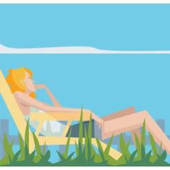 Outdoor Wooden Rocking Chairs White Brown Adirondack Plastic Girl Relaxing In A Lawn Chair Vector - Download Free Art, Stock Graphics & Images