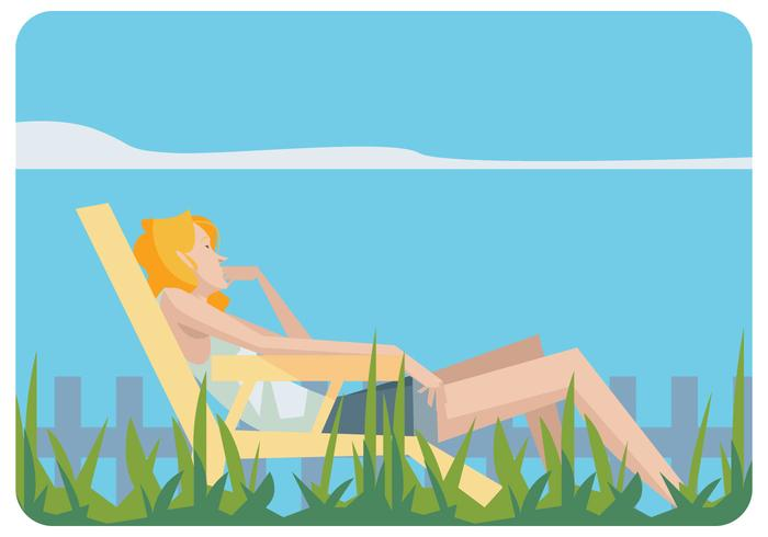 outdoor wood rocking chair black posture care second hand girl relaxing in a lawn vector - download free art, stock graphics & images