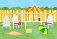 Free Summer Garden Party Background vector - Download Free ...