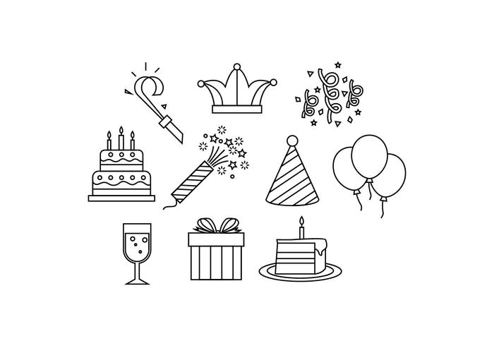 Event Icons Stock Images
