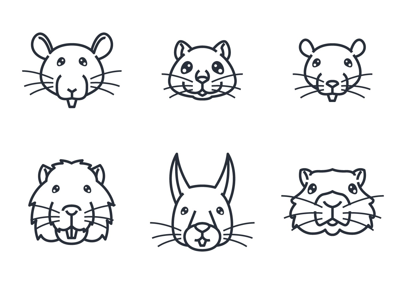 Mouse Face Free Vector Art