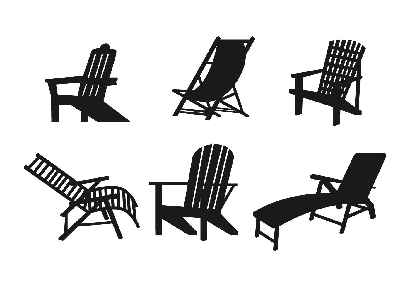 Lawn Chair Vector Set