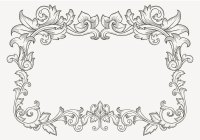 Floral Vintage Filigree Border - Download Free Vector Art ...