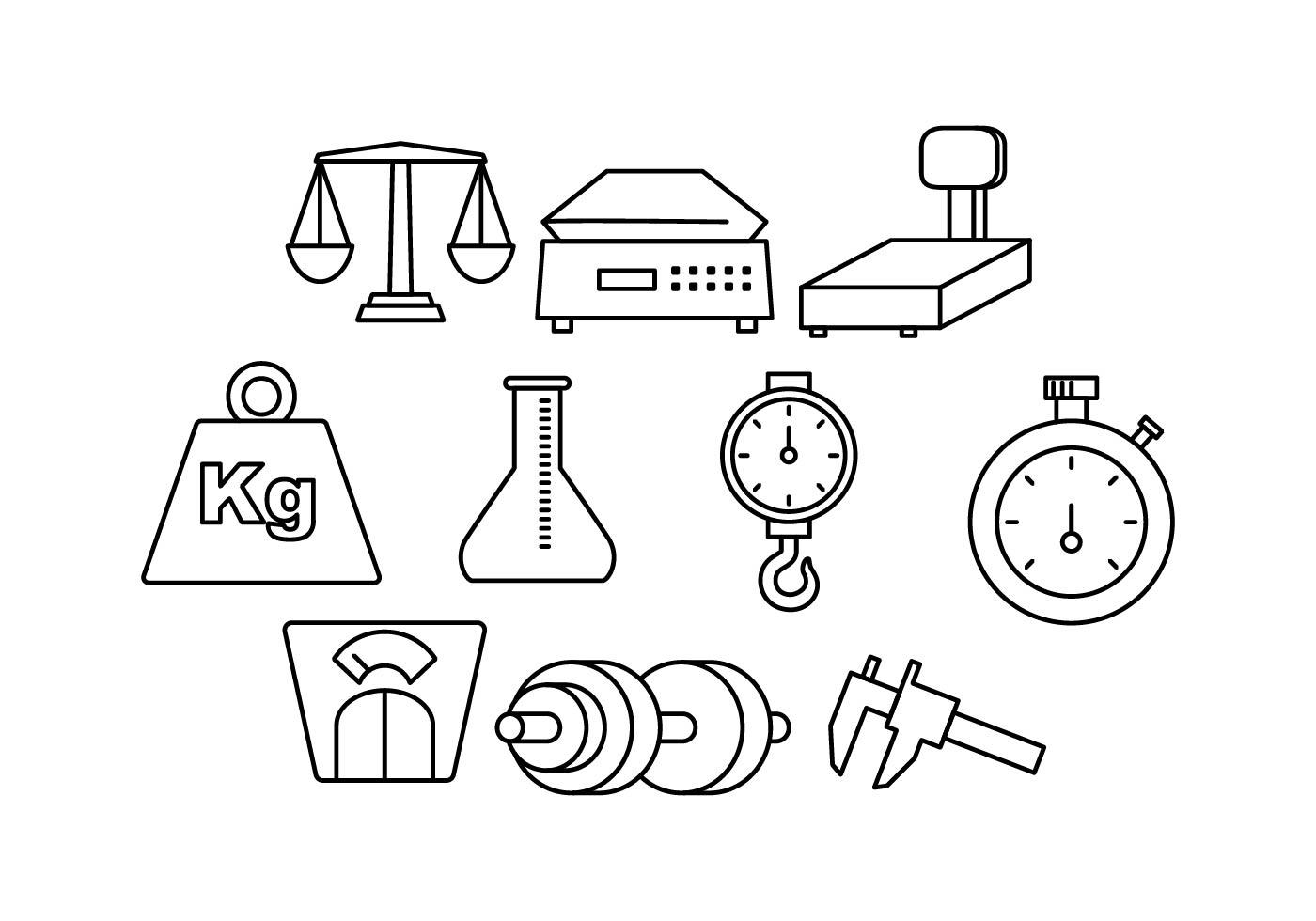 Free Measuring Tools Line Icon Vector