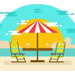 Beach Lawn Chairs Gaming Chair Pc World Uk Landscape With Vector Illustration Download Free