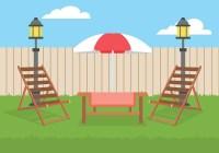 Lawn Chair Backyard Free Vector - Download Free Vector Art ...