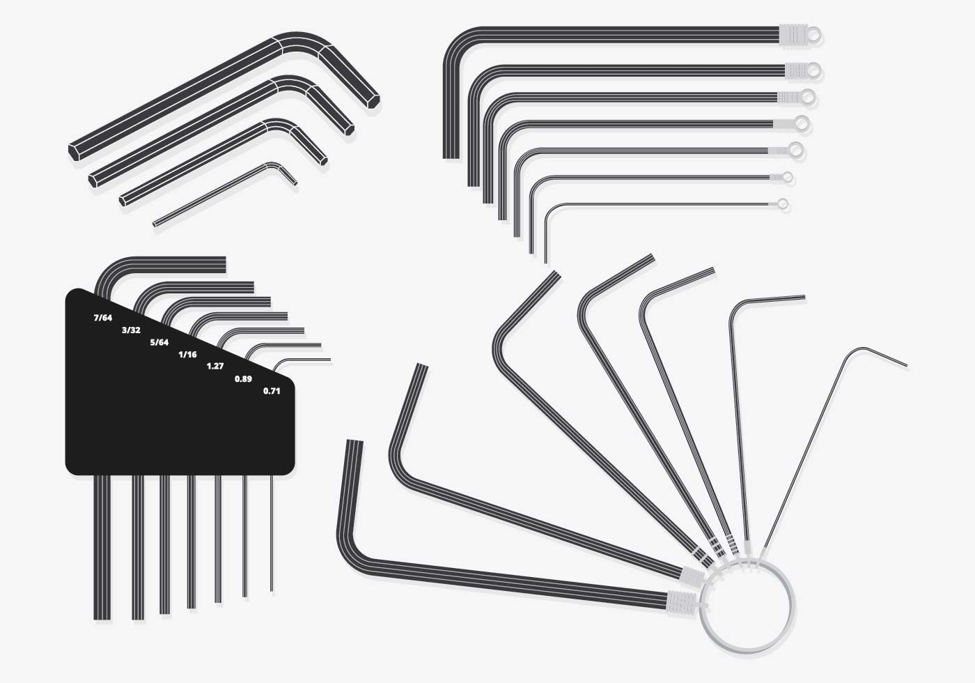 Allen Key Set Vector