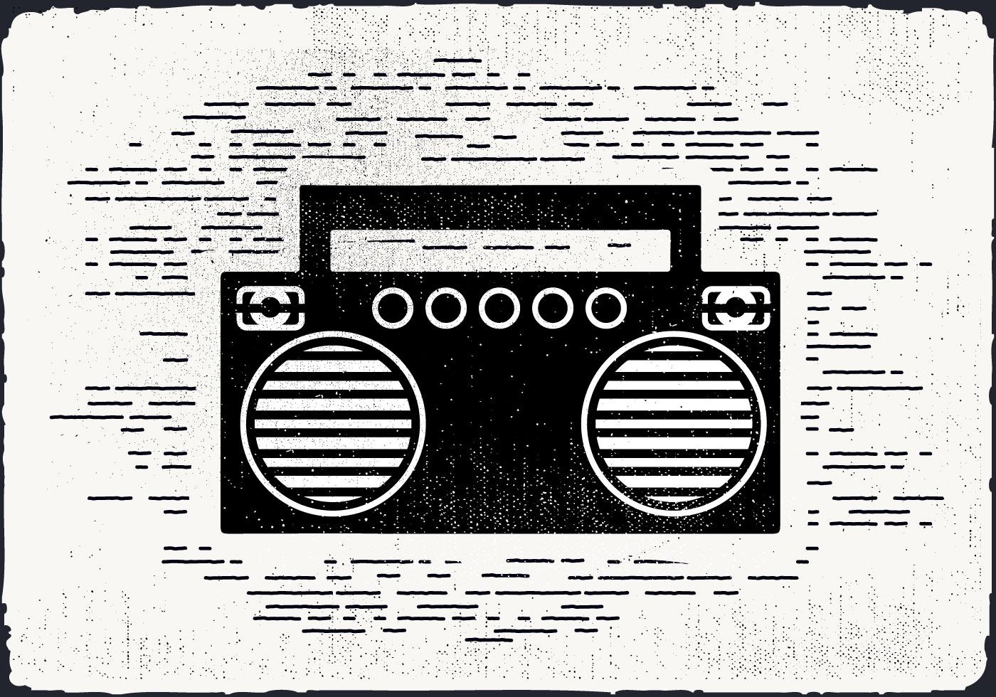 Free Vintage Music Player Vector Illustration