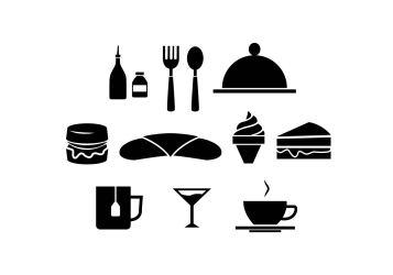 Logo Restaurant Silhouette