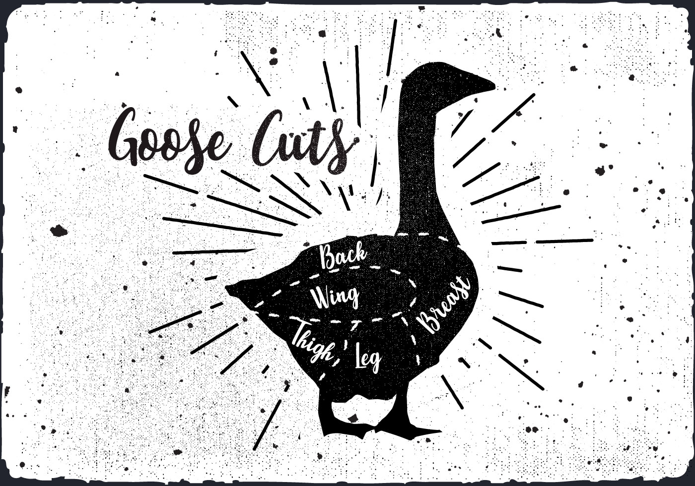 Goose Cuts Vector Background