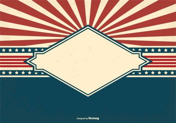 Blank Patriotic Style Grunge Background - Free