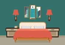 Bed Room Vector Illustration - Free Art