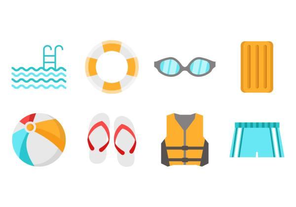 Swimming Pool Icons Vector - Free Art