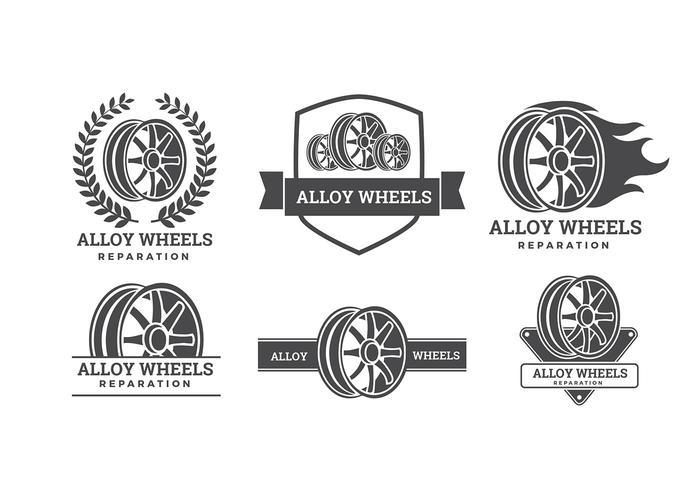 Alloy Wheel Logos Free Vector 156808 Vector Art at Vecteezy