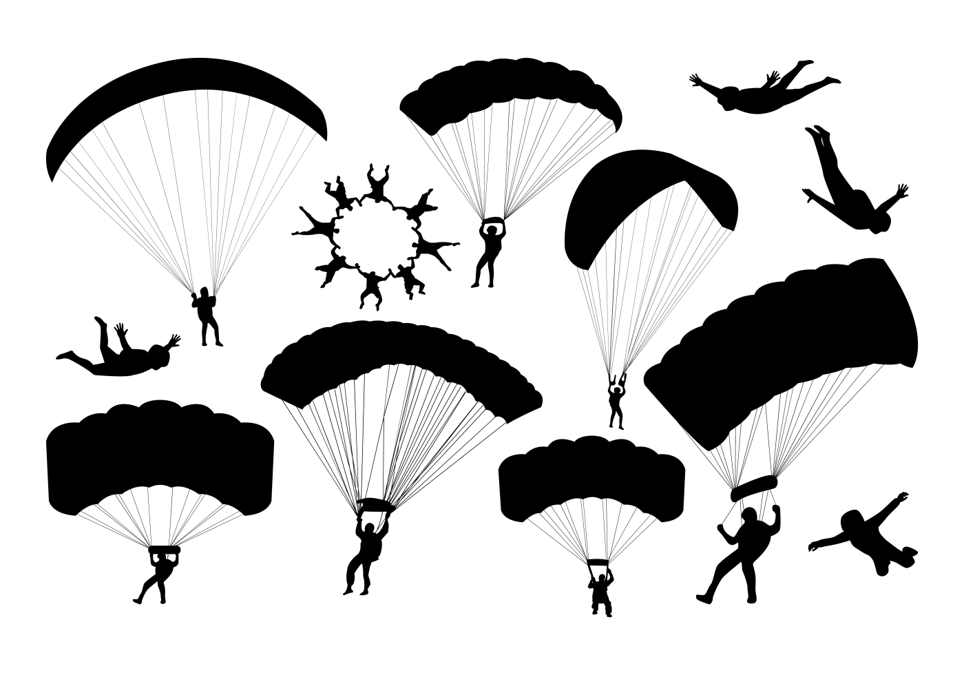 Military Parachute Harness Pack