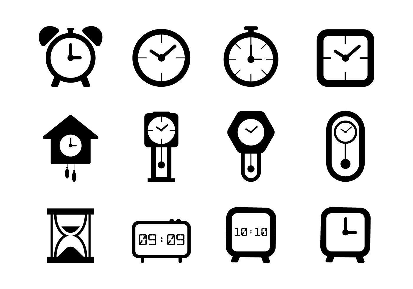 Clock Free Vector Art