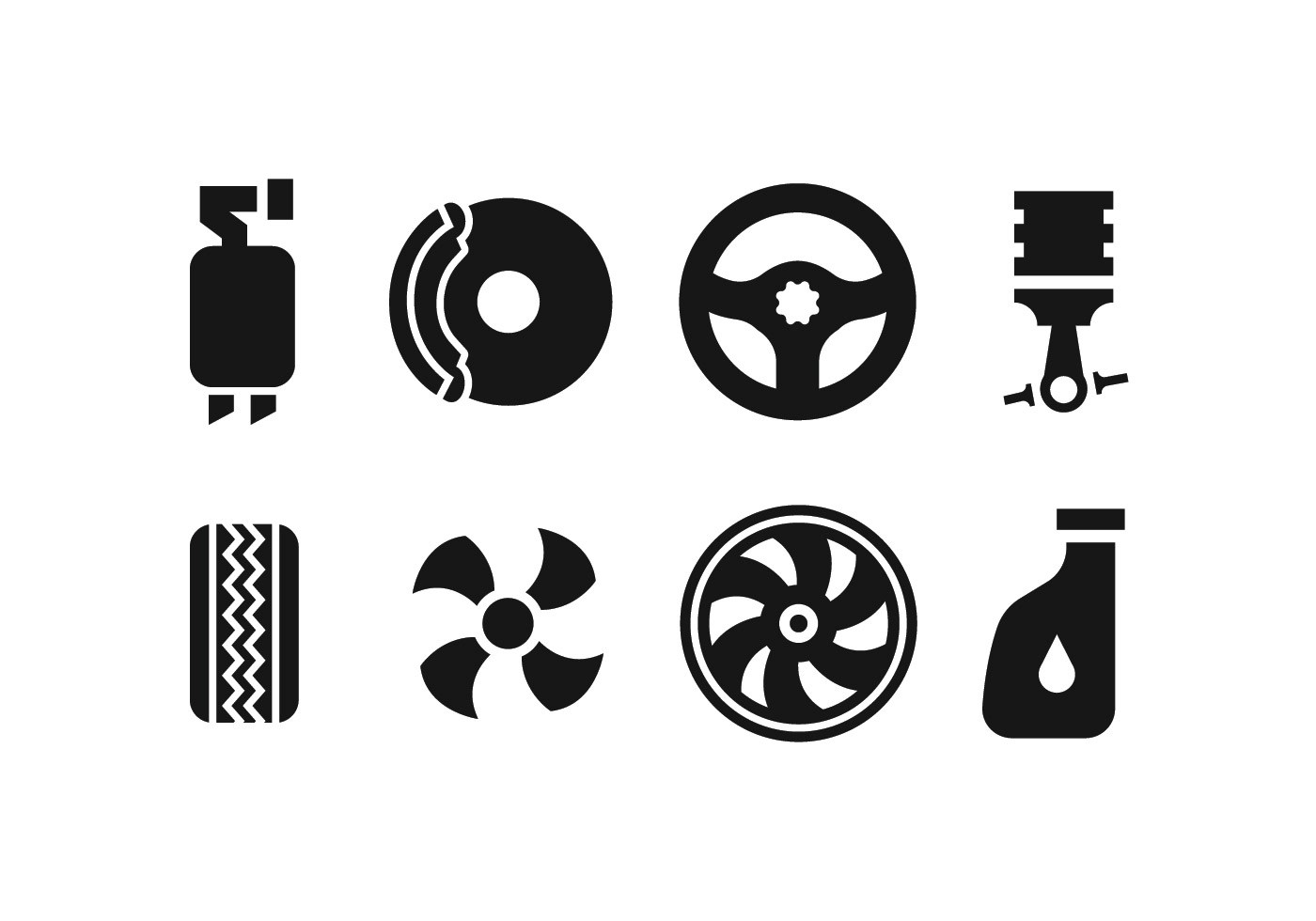 Car Spare Part Icons