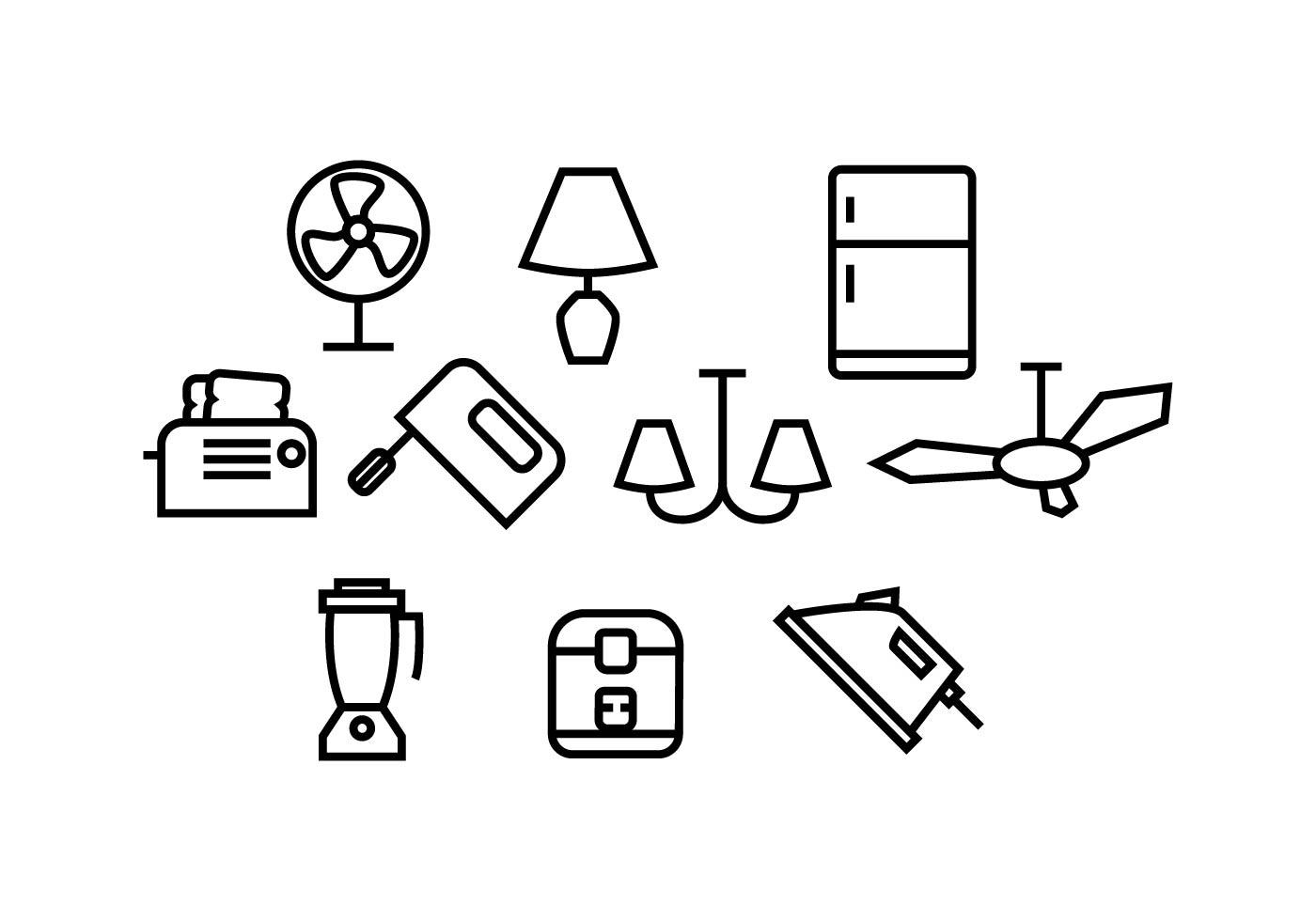 Free Home Appliances Icon Vector