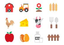 Free Agriculture Icons Vector - Art