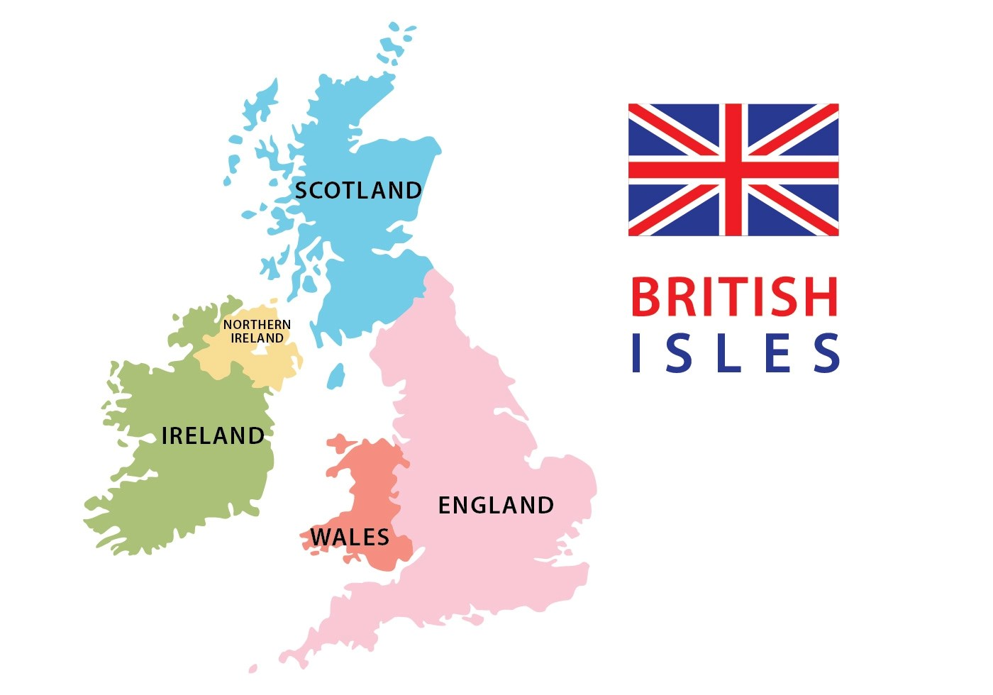 British And Irish Isles Map