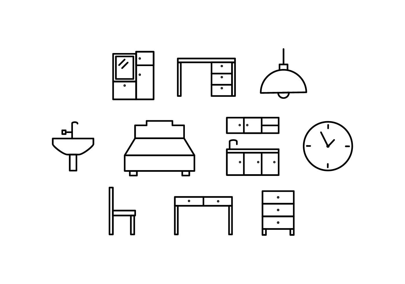 Free Furniture Line Icon Vector