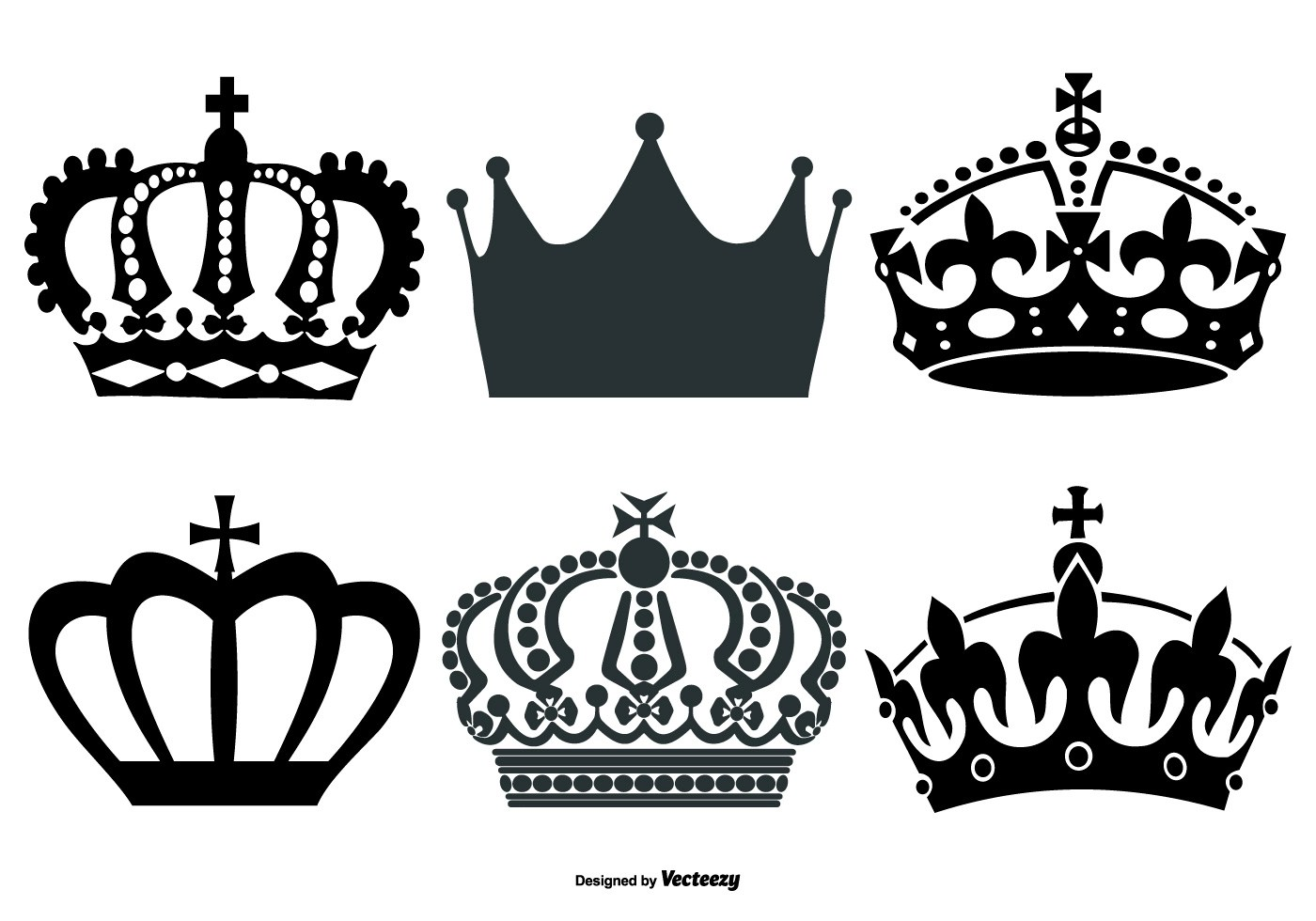 Vector Crown Shapes Collection