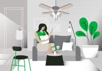 Modern Living Room Vector Background Illustration ...
