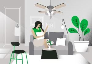 living vector illustration background modern clipart graphics
