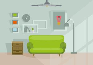 living illustration vector clipart vecteezy vectors graphics furniture retro