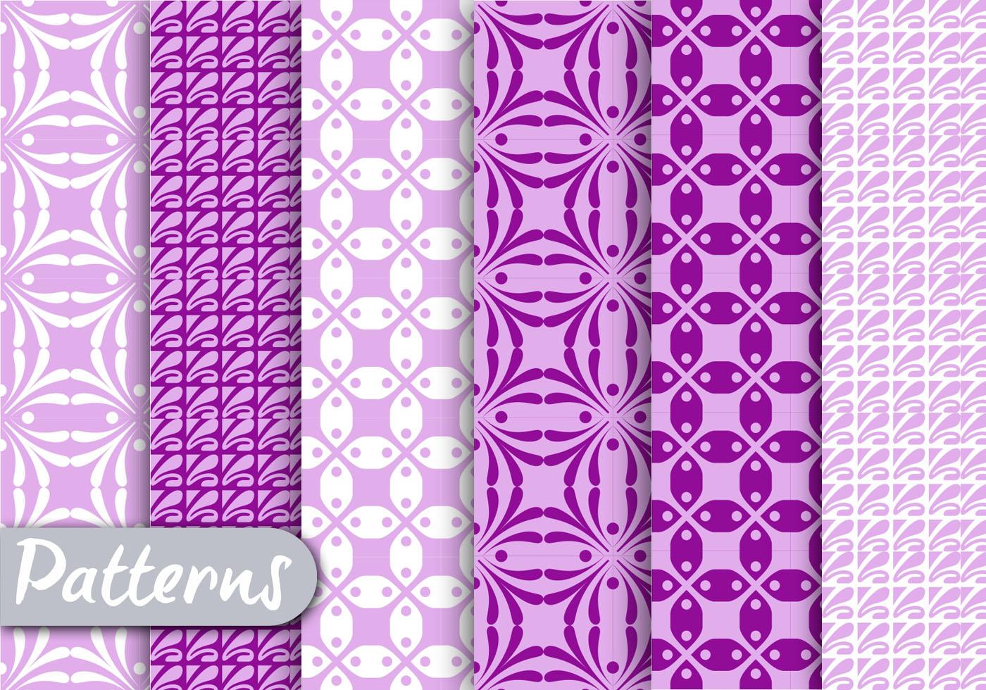 Cute Pink Wallpapers Download Purple Geometric Pattern Set Download Free Vector Art