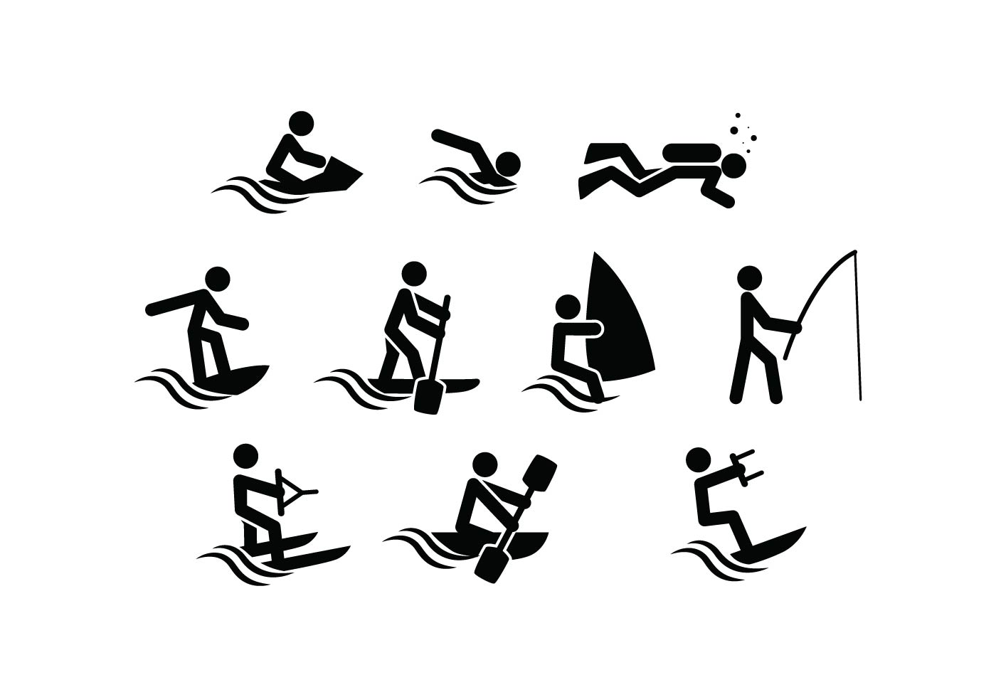 Free Water Sport Icon Vector