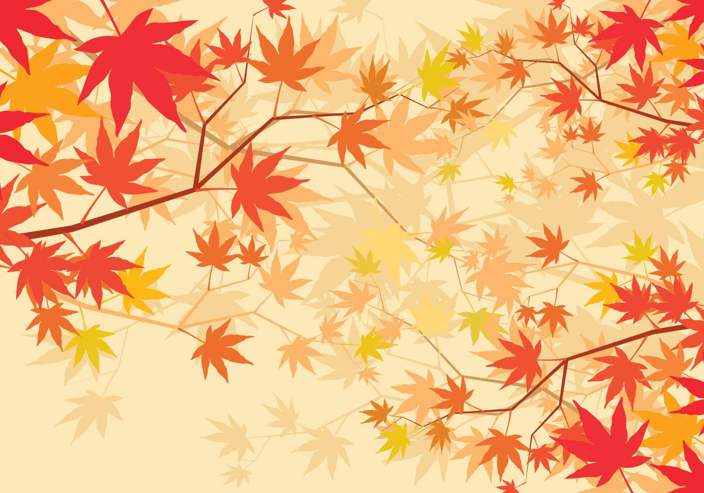 Cartoon Fall Wallpaper Japanese Maple Background Download Free Vector Art