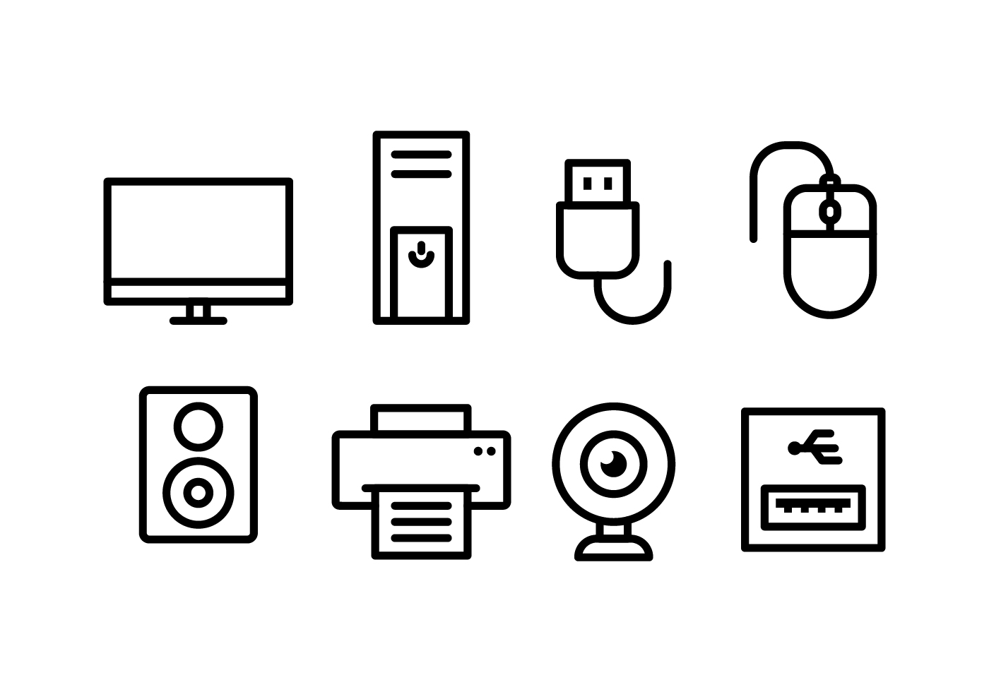 Computer Accessories Free Vector Art