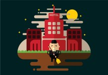 Hotel Janitor Cleaning Vector - Free Art