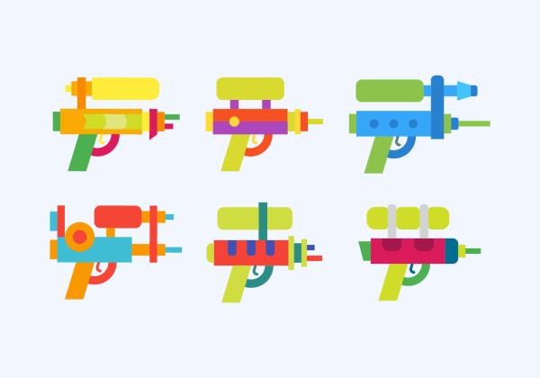Watergun Vector - Free Art Stock Graphics
